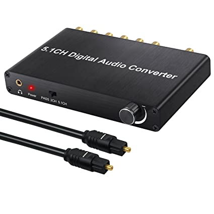 Neoeteck 192kHz DAC Converter Decoder With Volume Control Support Dolby AC-3/DTS Digital