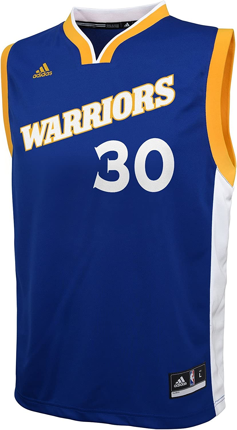 NBA YOUTH 8 20 GOLDEN STATE WARRIORS CURRY REPLICA STRETCH ALTERNATE JERSEY BLUE L 14 16