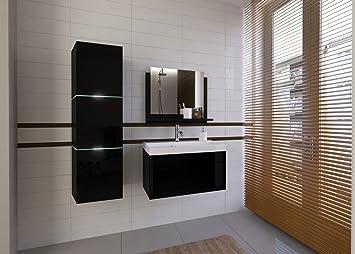 Moderne badezimmermöbel schwarz  Home Direct LORENT, Moderne Badschränke, Badmöbel, mit Waschbecken ...