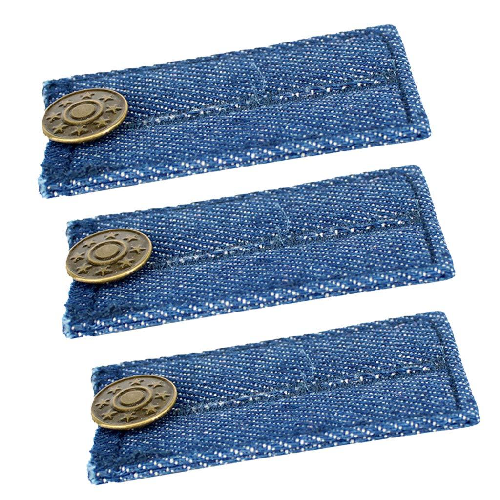 Baoblaze 3er Set Jeans Kn/öpfe Hosenerweiterung Set f/ür Schwangere Rockerweiterung Hosen Elastische Bunderweiterung