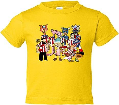 Camiseta Nino Atletico De Madrid Dibujos Animados De Los 80 Jorge Crespo Amarillo 3 4 Anos Amazon Es Bebe