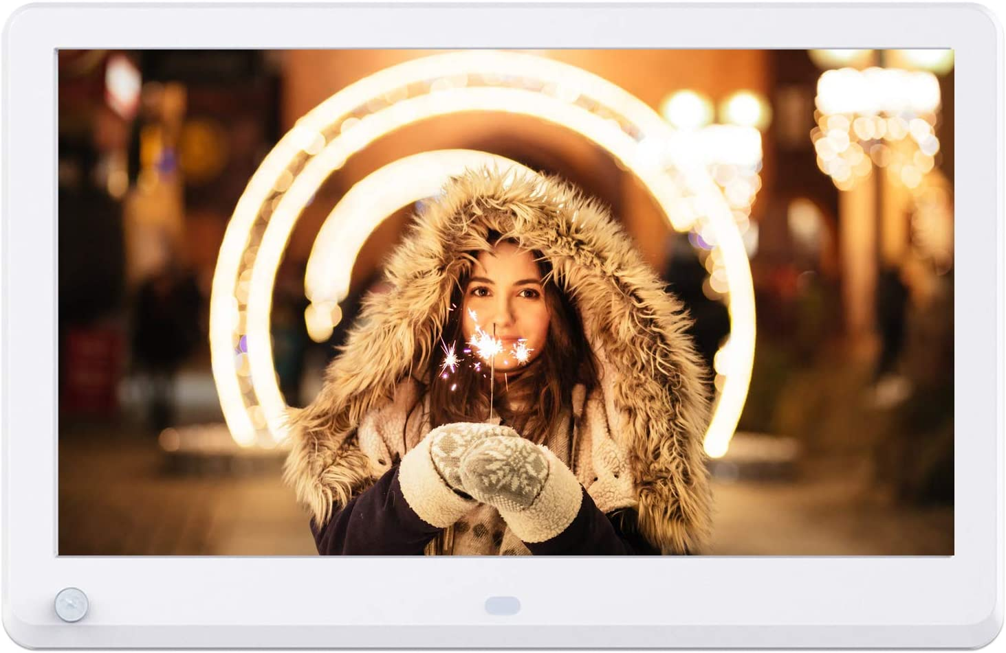 Atatat 11.6 Inch Digital Photo Frame with Motion Sensor, 1920x1080 IPS Screen, Digital Picture Frame Support 1080P Video, Music, Photo, Breakpoint Play,Adjustable Brightness,Auto-Rotate,Remote control