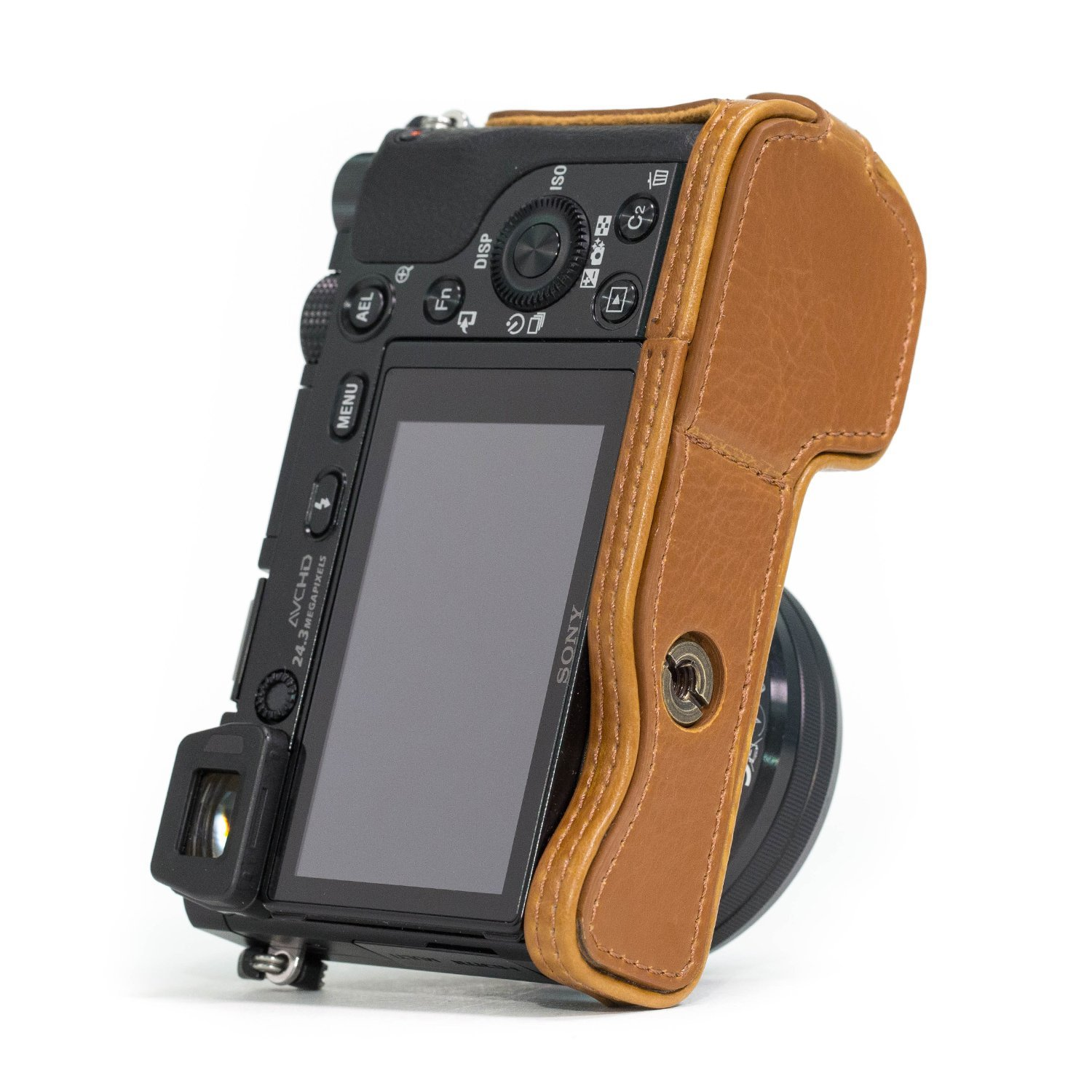 A5000 MegaGear Ever Ready Leather Camera Half Case Compatible with Sony Alpha A5100
