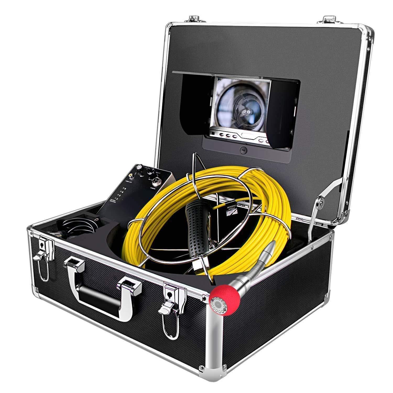 Rohrkamera Mit Licht 20m Inspektionskamera Wasserdicht Ip68 Pipeline Video Kanalkamera Industrie Rohr Endoskop Kanal Kamera Mit 7 Hd 1000tvl Lcd Monitor Gewerbe Industrie Wissenschaft