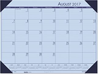 product image for House of Doolittle 2017-2018 Academic Desk Pad Calendar, EcoTones, Orchid, 18.5 x 13 Inches, August - July (HOD012573-18)
