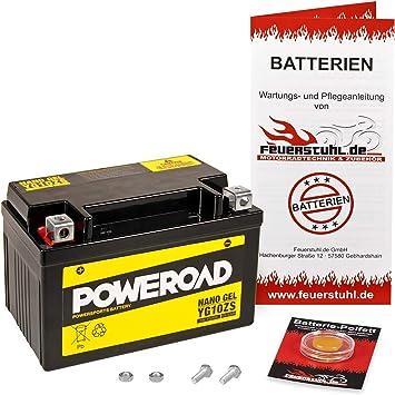 Gel Batterie Für Honda Cbr 900 Rr Fireblade 2002 2003 Sc50 Wartungsfrei Einbaufertig Startklar Inkl 7 50 Pfand Auto