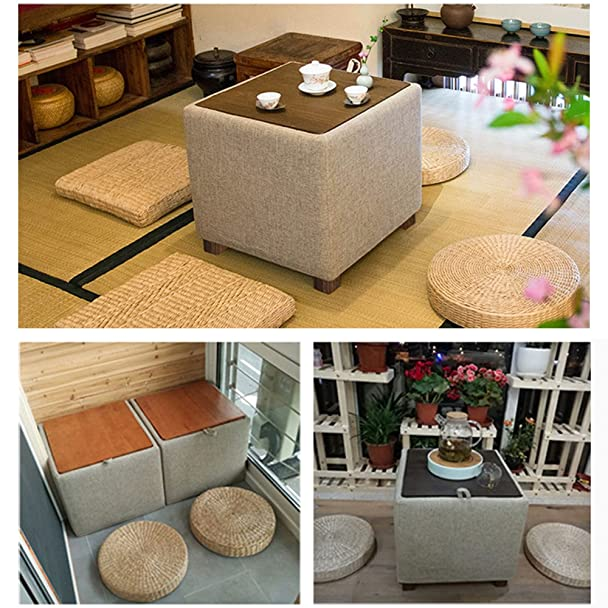 ... Natural Seat Furniture Meditation Furniture Floor Mat Cushion Yoga Mat  Multi Functional Handmade Eco Friendly Breathable Square,Beige: Home U0026  Kitchen