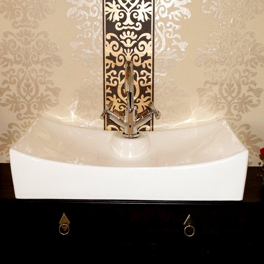 Céramique design lavabo meuble sous vasque de lavabo impression embout à dessert