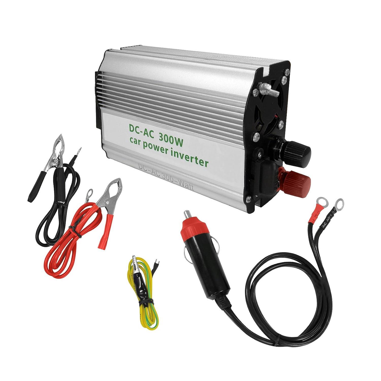 Transformador convertidor de corriente DC 12V / 24 V para mechero de coche, CA de 220 V - 240 V, 300 W Eaxus 70410