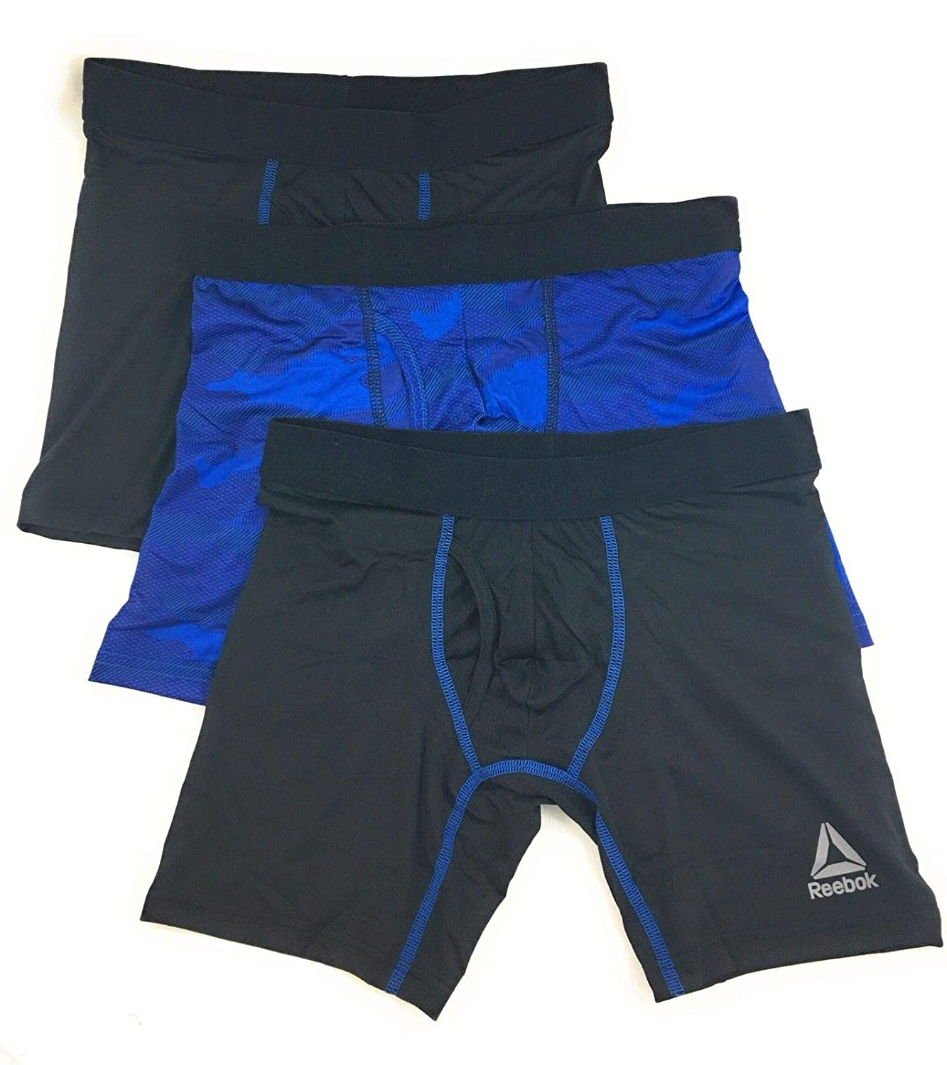 Reebok Mens Breathable 3 Pack Boxer Briefs Unknown