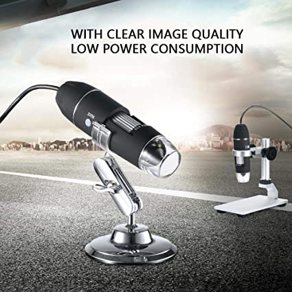 iFCOW Microscope S4T-30W-D 1600X USB Zoom 8 LED Microscope Digital Magnifier Endoscope Camera Video w//Stand