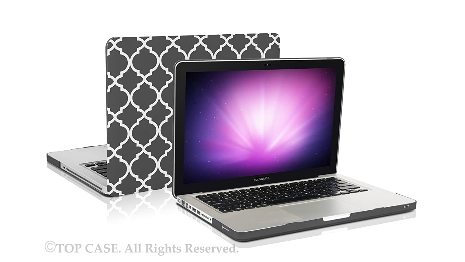 "Quatrefoil Moroccan HOT BLUE Matte Hard Case for Macbook PRO 13/"" A1278"