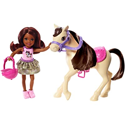 ​Barbie Club Chelsea Doll and Horse, 6-Inch Brunette, Wearing Fashion and Accessories, Gift for 3 to 7 Year Olds: Toys & Games