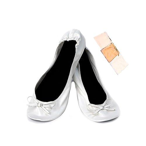 2b588c0f8d6 DISOK - Bailarinas Manoletinas Plegables y Plegadas para Detalles de Bodas  En Bolsa De Regalo Comprar Online Ofertas  Amazon.es  Zapatos y complementos