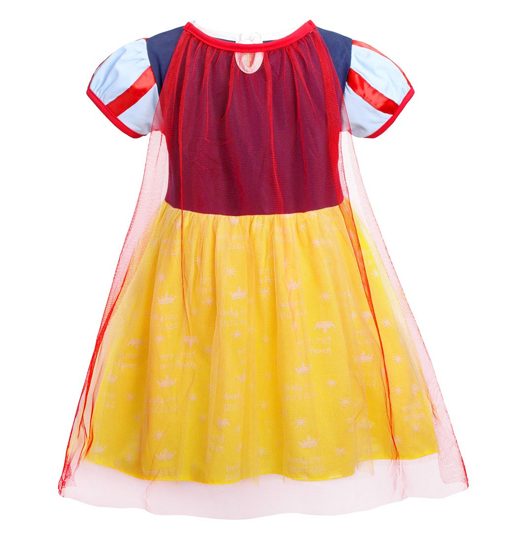 Jurebecia Princess Snow White Dress Toddler Girls Nightgowns Birthday Halloween Party Costumes with Cape Size 3T by Jurebecia (Image #4)