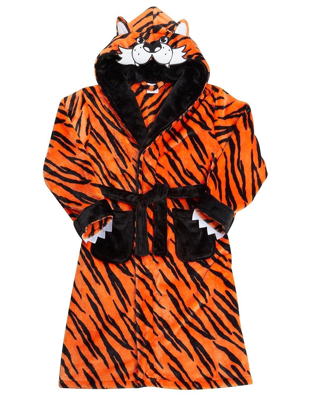 Kids Childrens Teenager Unisex Tiger Novelty Hooded Dressing Gown ...