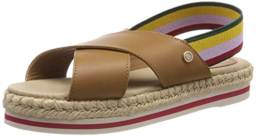 24add45c0 Tommy Hilfiger Women s Colorful Rope Flat Sandal Flip Flops  Amazon ...