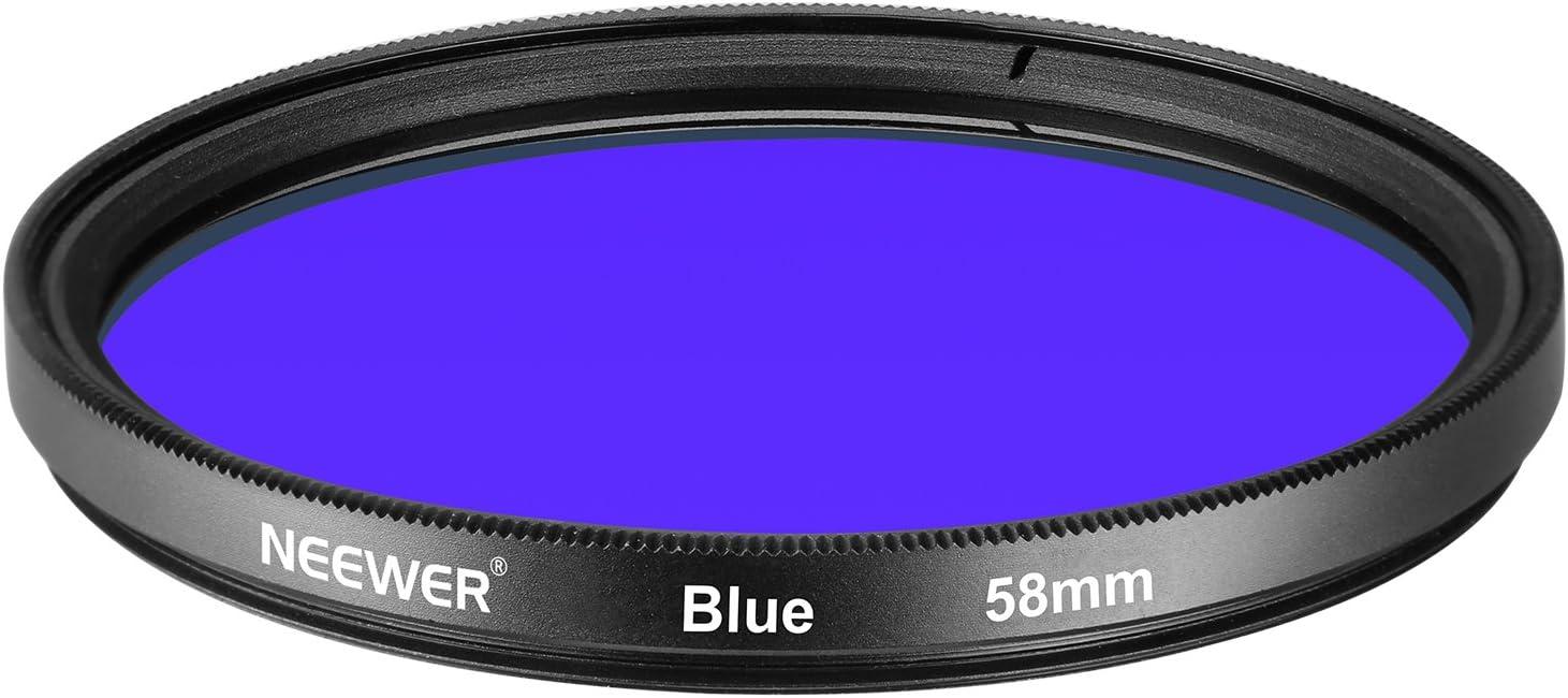 Made of HD Optical Glass and Aluminum Alloy Frame Neewer 52MM Full Blue Lens Filter for Nikon D3300 D3200 D3100 D3000 D5300 D5200 D5100 D5000 D7000 D7100 DSLR Camera