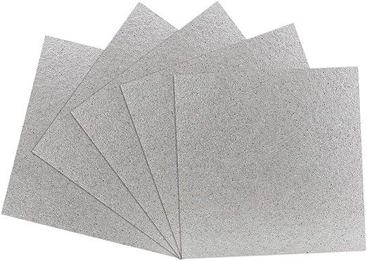 BUZIFU Microondas Placas de Mica, 5pcs Carton Microondas 13cm x ...