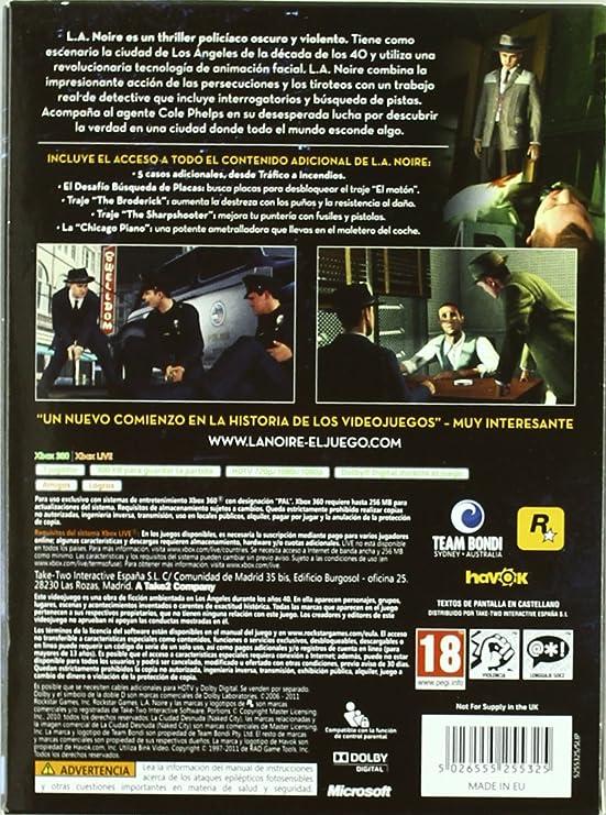 L.A. Noire-Edición Completa: Amazon.es: Videojuegos