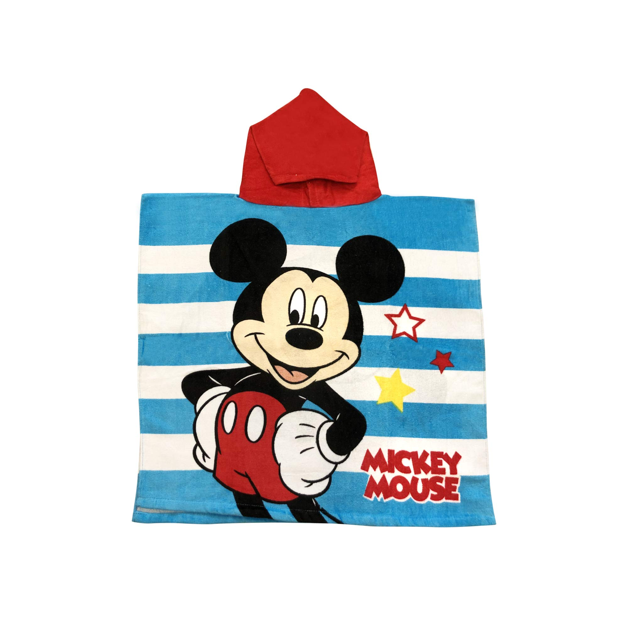 MickeyMouse Blue and White Stripped red Hooded Boys Towel