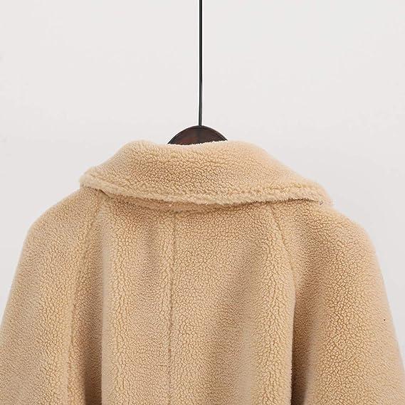 Lulupi Cappotto in Pelliccia da Donna Collo A Rever Giacca