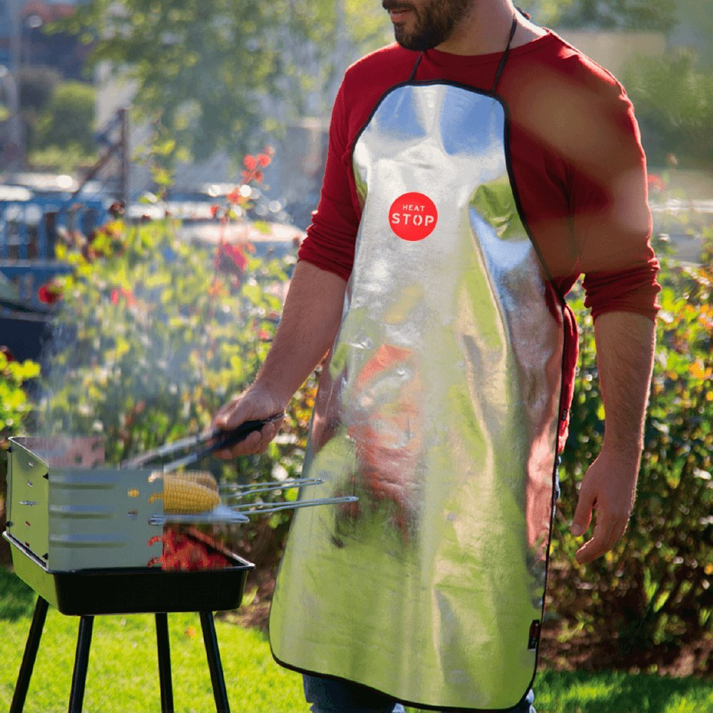 Heat protective apron for barbecue, grill and oven Texfire