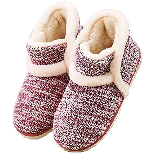 MiYang Vintage Arctic Solid Indoor Boot Slippers
