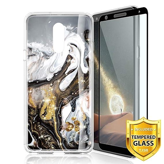 TJS Case for LG Aristo 2/Aristo 2 Plus/Aristo 3/Aristo 3 Plus/Tribute  Dynasty/Tribute Empire/Fortune 2 [Full Coverage Tempered Glass Screen  Protector]
