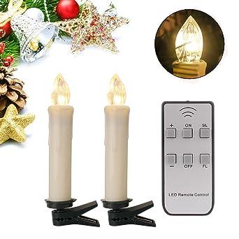 Lichterkette Weihnachtsbaum Kabellos.Yaobluesea 40stk Weinachten Led Kerzen Lichterkette Kabellos Weihnachtskerzen Christbaumschmuck Weihnachtsbaumbeleuchtung Mit Fernbedienung Kabellos
