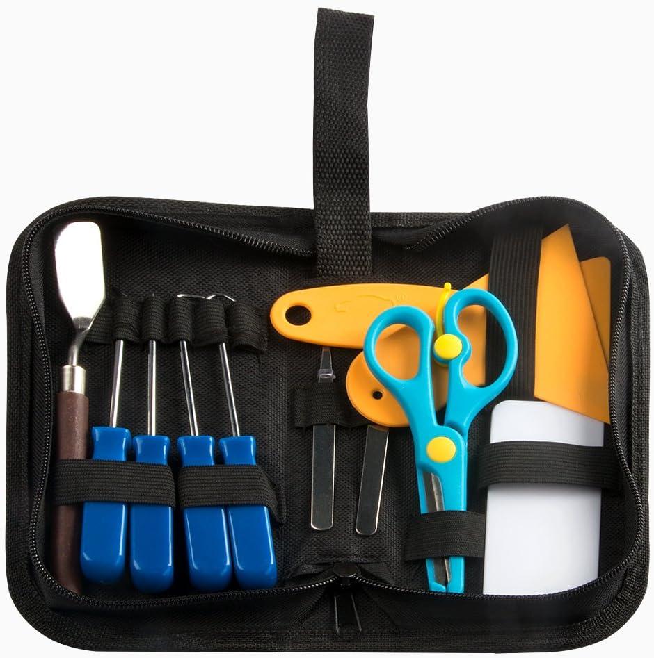 CCMART Lot de 12 mini-outils de désherbage en vinyle en acier inoxydable pour HTV, Lettering, ORACAL, Siser, Silhouette et Cameo