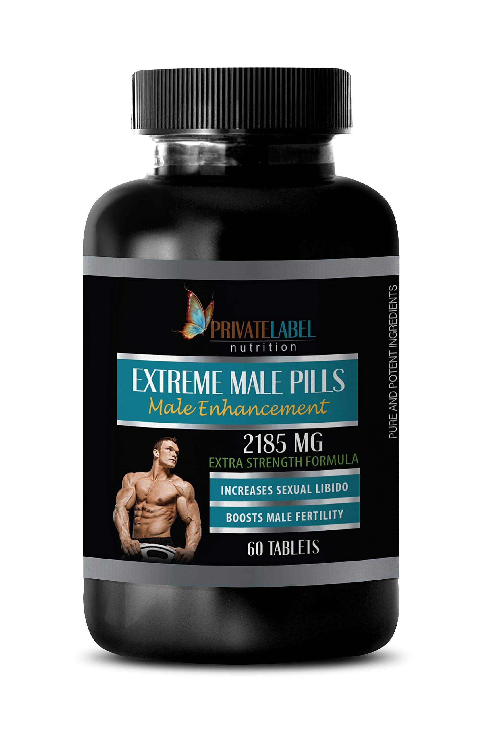 libido Herbal Supplement - Extreme Male Pills 2185 Mg - Extra Strength Formula - tribulus terrestris Extract - 1 Bottle 60 Tablets