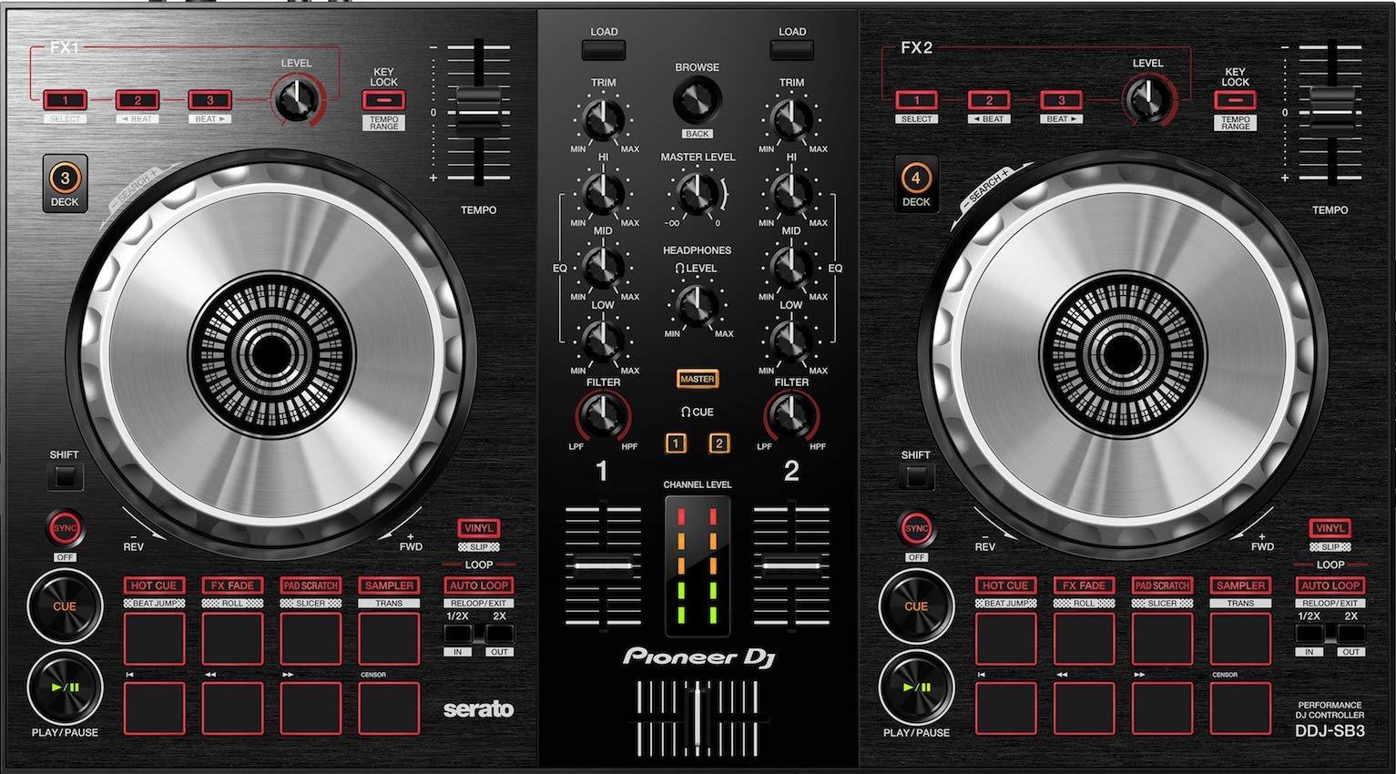 Pioneer DJ DJ Controller, Black (DDJ-SB3) by Pioneer DJ
