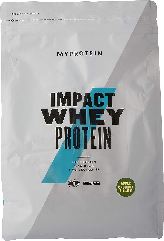 MyProtein Impact Whey Proteína de Suero, Sabor Crujiente de Manzana con Natillas - 1000 gr