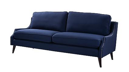 Gentil Jennifer Taylor Home 63290 3 878 Ariana Sofa, Midnight Blue