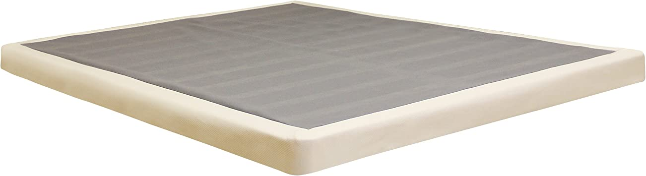 Low Profile Box Spring 4 Inch Great For Memory Foam Mattress King Amazon Co Uk Kitchen Home