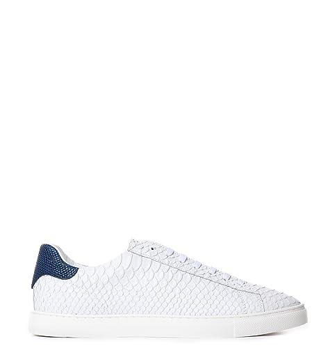 DSquared - Zapatillas de Otra Piel para Hombre Blanco Blanco, Color Blanco, Talla 42.5: Amazon.es: Zapatos y complementos