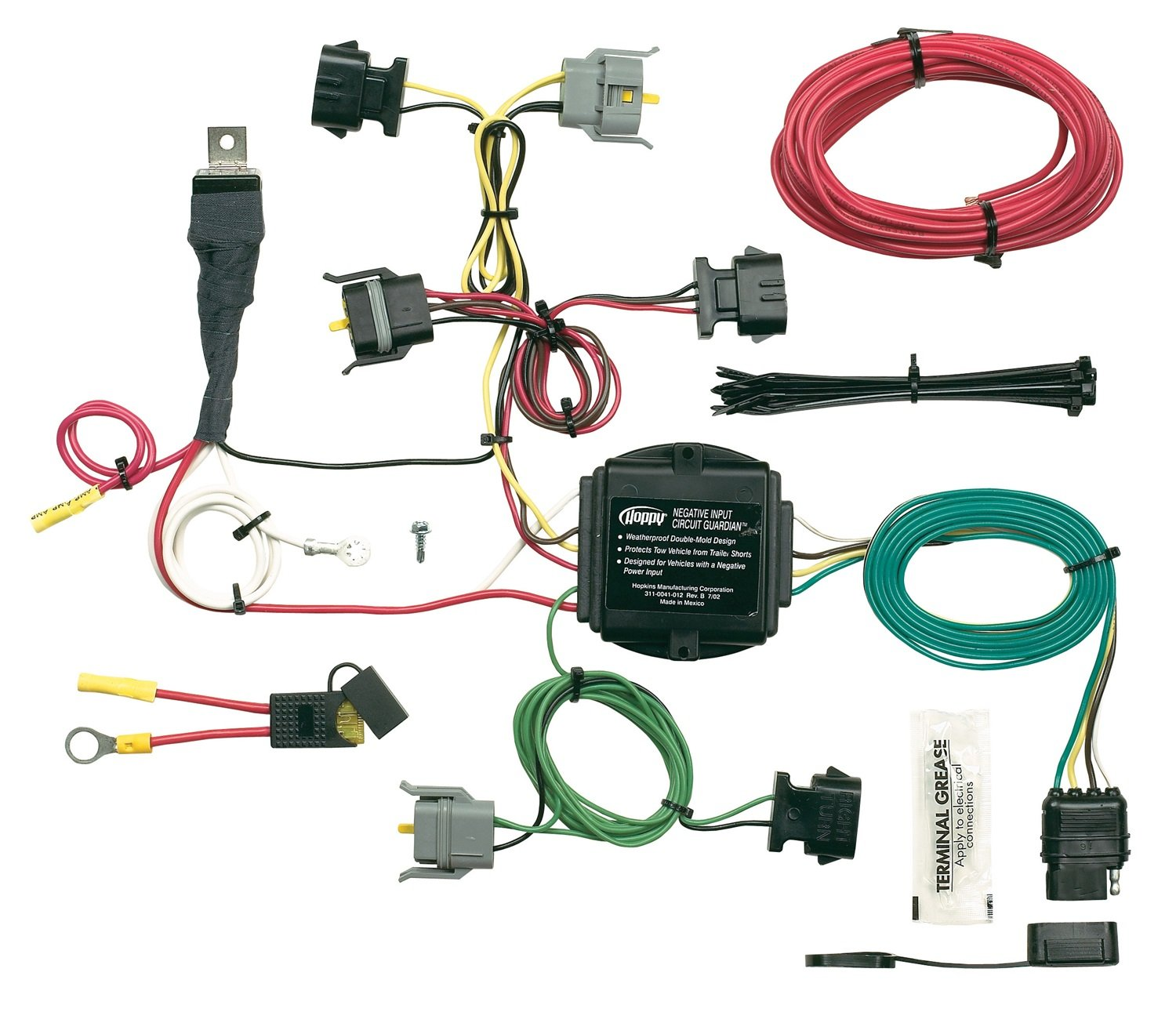 71whSupYHeL._SL1500_ amazon com hopkins 40615 plug in simple vehicle wiring kit wiring diagram for hopkins trailer plug at gsmx.co