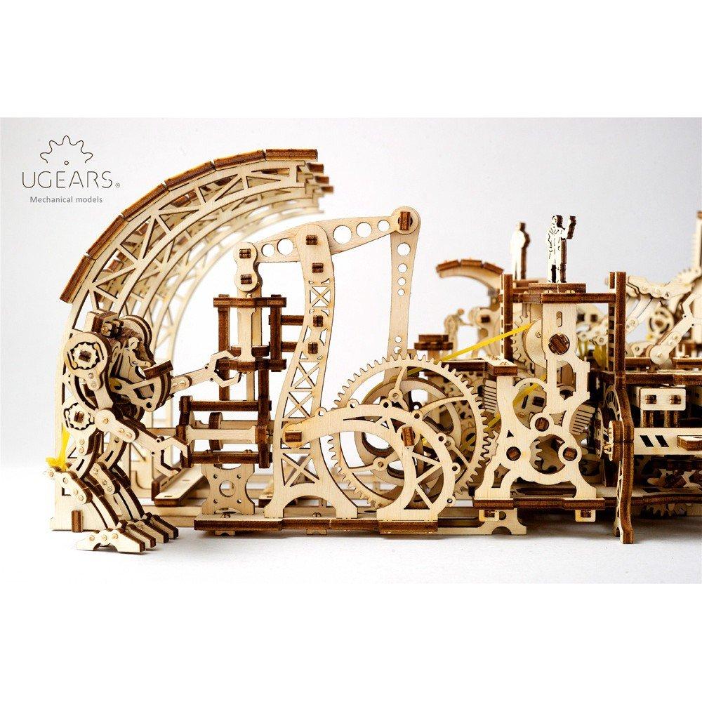 STEAM Line Toys UGears Mechanical Models 3-D Wooden Puzzle - Mechanical  Robot Factory