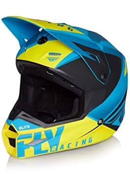 Fly Racing Casco Mx 2019 Elite Vigilant Azul-Negro (L, Azul)