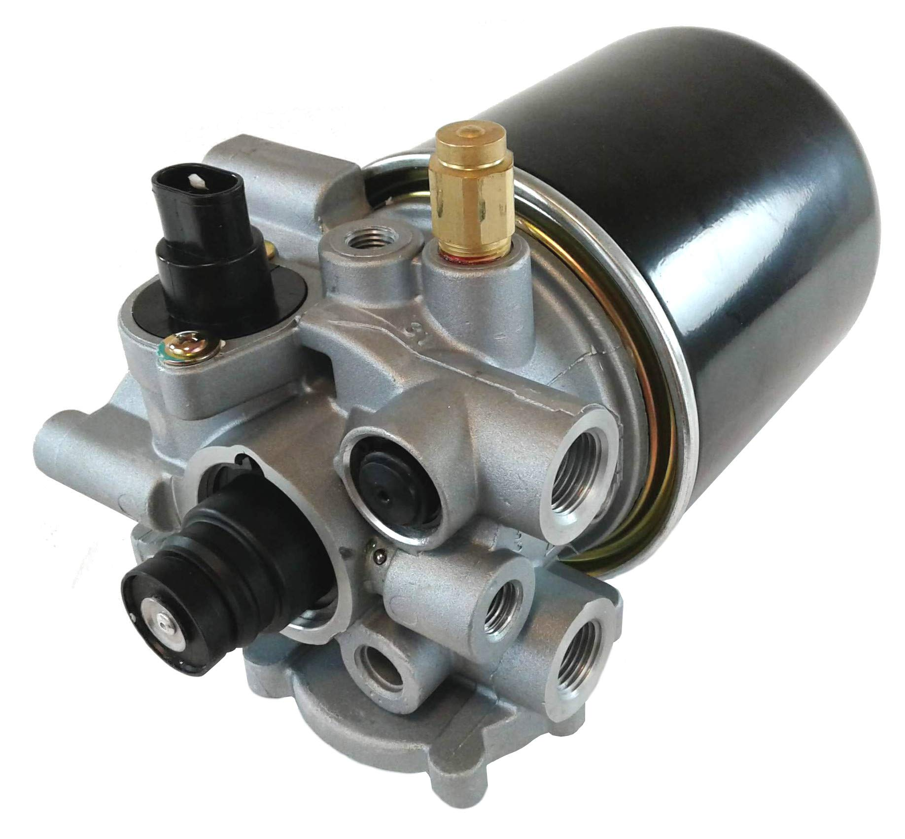 Air Brake Dryer Assembly with Spin-on Cartridge for Heavy Duty Big Rigs Trucks, Tractors, Buses