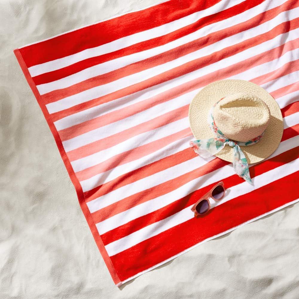 Lot de 2 Basics Serviettes de plage Premium