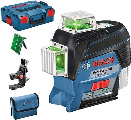 Bosch Professional GLL 3-80 Livella Laser Raggio d/'Azione Fino a 30 m 4 Pile AA 1.5 kg BT 150 Treppiede da Perito in Valigetta Blu 55-157 cm