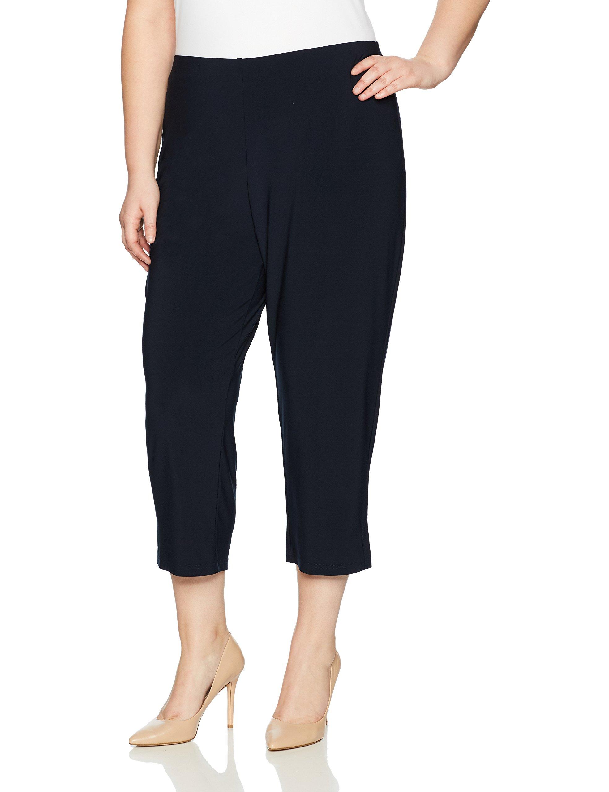 Sympli Women's Plus-Size Narrow Pant, Ankle Length, Navy, 1X
