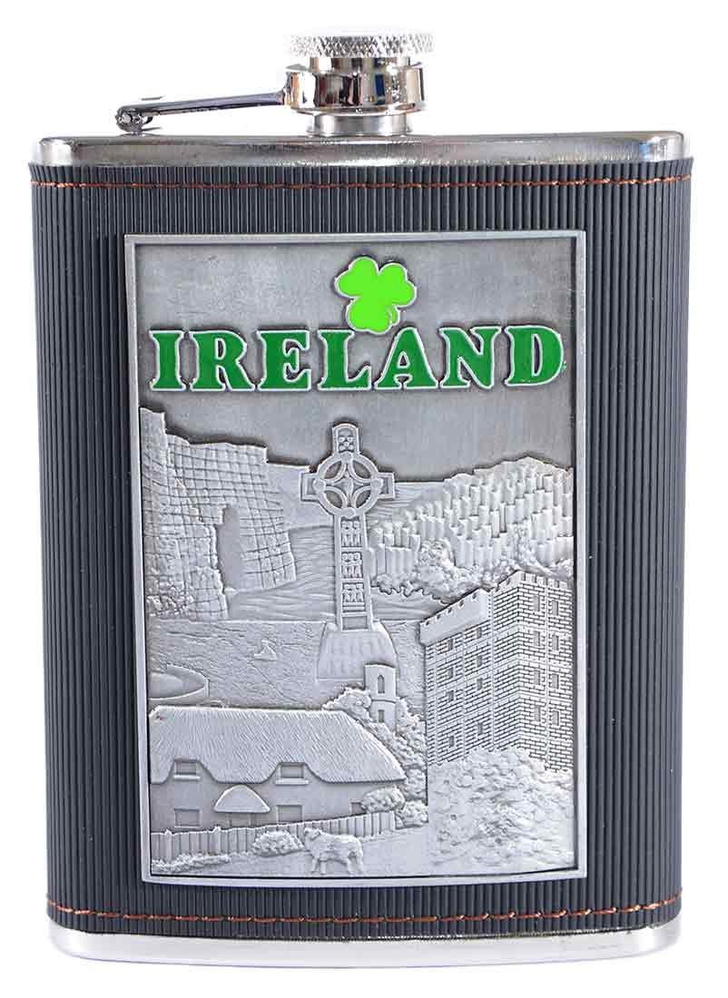 魅力的な価格 アイルランド8オンスステンレススチールDesignedヒップフラスコwithレザーカバー B079KFPKLK, シウラムラ:25dcfd3e --- a0267596.xsph.ru