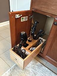 hair appliance organizer hair dryer flat