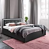 polsterbett kunst lederbett wei doppelbett bettgestell komforth he bastian gr e 160x200 cm. Black Bedroom Furniture Sets. Home Design Ideas
