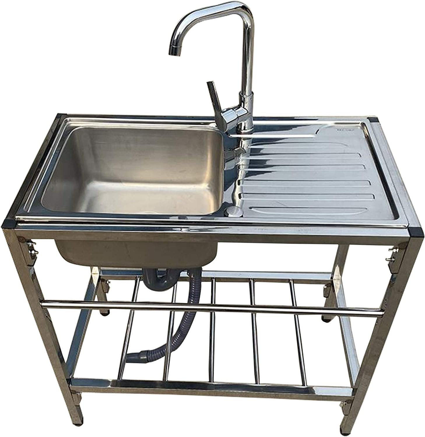 Cruise Tech Single Bowl Stainless Steel Kitchen Sink Laundry Under// Top Mount Sink W// Waste