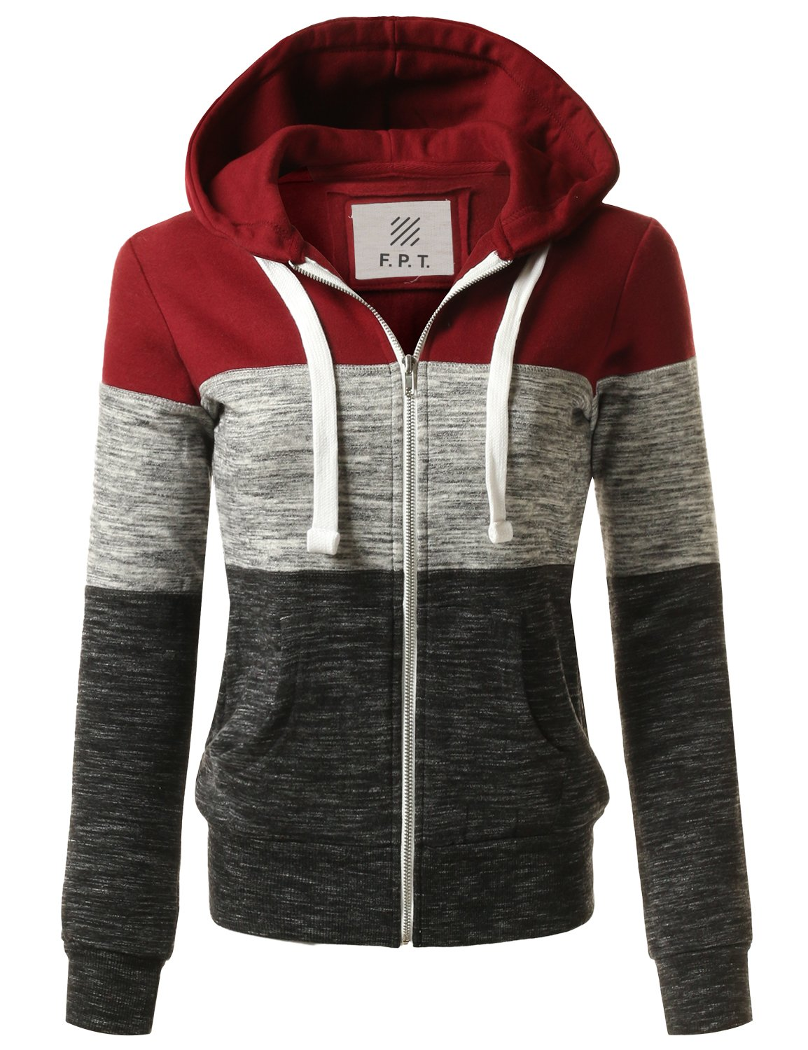 Fifth Parallel Threads FPT Women's Basic Zip Up Hoodie Fleece Jacket FPAWOHOL01