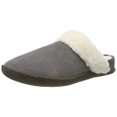 Sorel Women's Nakiska Slide II Slippers, Quarry/Natural, 9 | Slippers